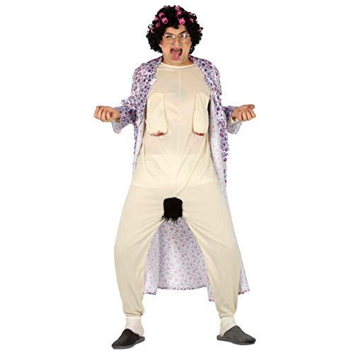 nackte Oma Karneval Fasching JGA Party Kostüm für Erwachsene Großmutter Gr. M - L, Größe:M