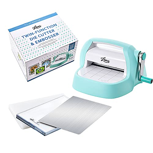 """PAPUS Die Cutting & Embossing Machine Combo 6"""" Opening with 4 Cutting Pads for Craft & Arts"""