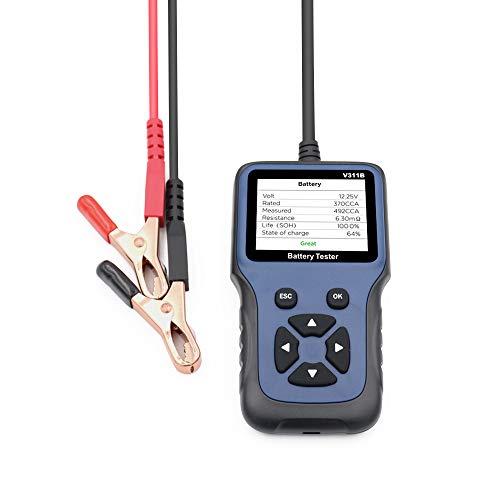 KKmoon Auto Batterietester, Batteriedetektor für Automotive 12V Kfz Batterie Analyzer Autobatterien Diagnose Tool Batteriezustand für Auto/Boot/Motorrad und Mehr