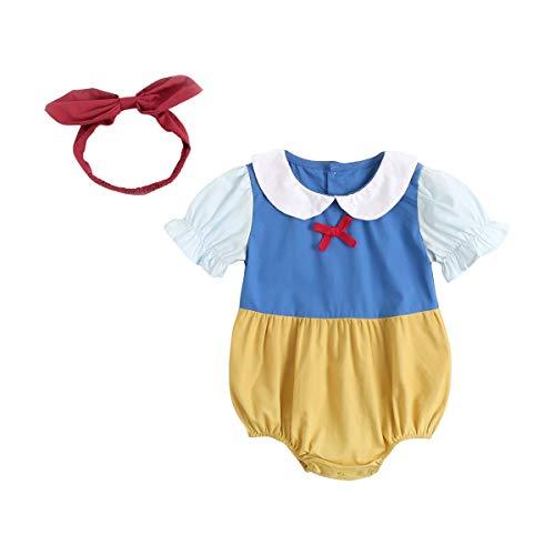 UMore Verano de manga corta bebé niñas bodysuits lindos bebés ropa con diadema
