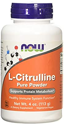 L-Citrulline, 100% Pure Powder, 4 oz (113 g) - Now Foods - UK Seller from NOW