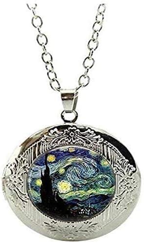 Starry Night Jewelry Van Gogh Starry Night Locket Necklace