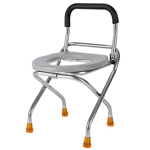 FJLOVE Chaise Percée WC pour Handicapé Portable Renforcé Pliable Toilette Chaise Voyage Camping Escalade PêChe Compagnon Chaise Activité en Plein Air Accessoires