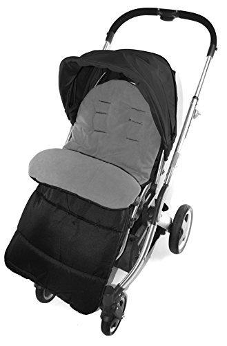 Fußsack/COSY TOES kompatibel mit BabyStyle Oyster Jule Kinderwagen Dolphin grau