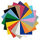 Angoo HTV Heat Transfer Vinyl Sheets Bundle Set, 18 Pack 12' x 10' Multi-Color Iron On Heat Transfer HTV Sheets Paper for DIY T-Shirts, Hat, Clothing, Heat Press Machine or Silhouette Cameo
