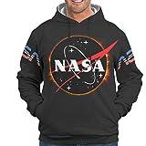 Fantasie NASA - Sudadera para Hombre con Estampado de Estrellas, finlandés del Sol, Manga Larga, Sudadera con Capucha y Bolsillos Blanco XXXXXL