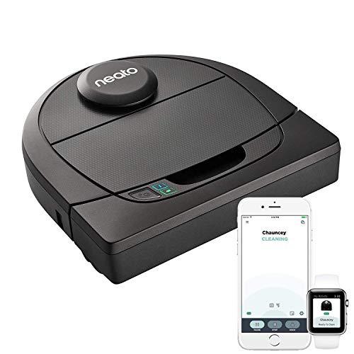 Neato Robotics D4 Robot Aspirapolvere Intelligente, Compatibile con Alexa, con Stazione di Ricarica, Wi-Fi e App