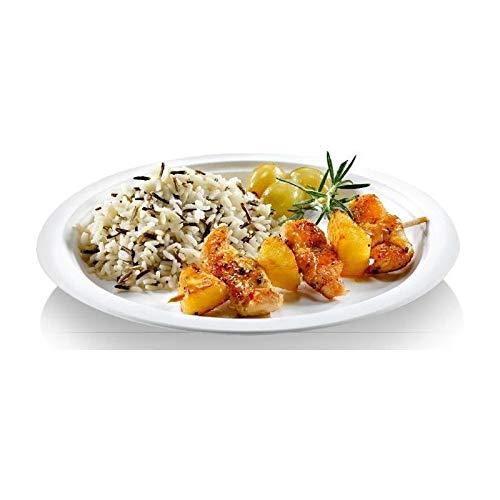 NATURESSE - 5016-12 - 23 assiettes rondes - Canne a sucre - Diametre 23 cm