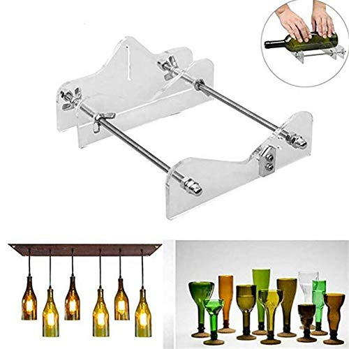 Puimentiua DIY Glass Bottle Cutter Machine Tools, Bundle Wine Beer Champagne Bottles and Jars Cutting Tool Kit for Home Bar Decoration Make Crafts, Suitable for Most Glass Bottle( Acrylic )