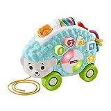 Fisher-Price-GHR16 Linkimals Happy Shapes Erizo, Juguete Interactivo para bebs con Luces y Sonidos, Multicolor (Mattel GHR16)