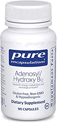 Pure Encapsulations - Adenosyl/Hydroxy B12 - Hypoallergenic Blend with Vitamin B12 for Nerve and Mitochondrial Support - 90 Capsules