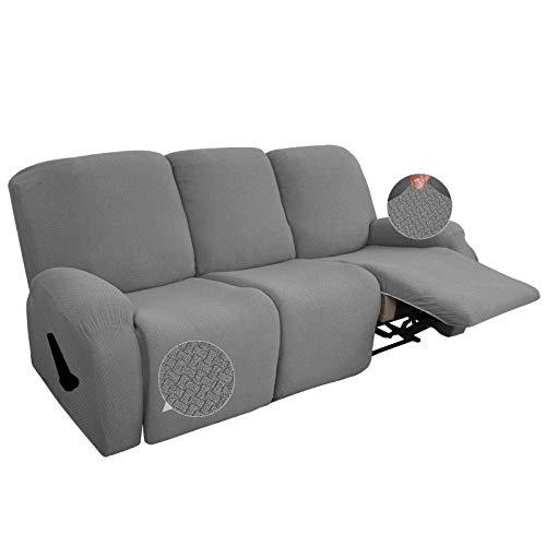 WLVG Funda elástica para sofá reclinable de 3 plazas, Funda de sofá...