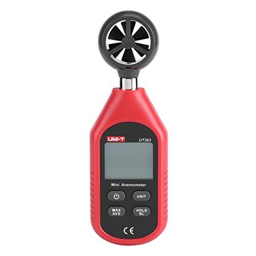 Fdit LCD Anemometro Digitale Termometro Portatile Misuratore di vVelocità del Vento per Windsurf Navigazione in Barca Vela