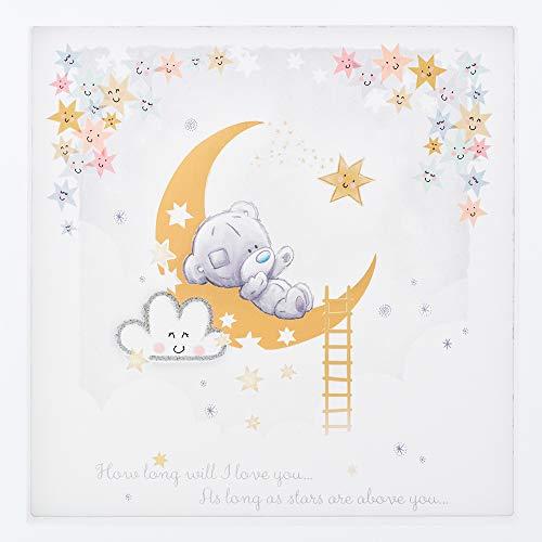 Me to You Tiny Tatty Teddy - Impression encadrée de lune et d'étoiles - Décoration de chambre d'enfant