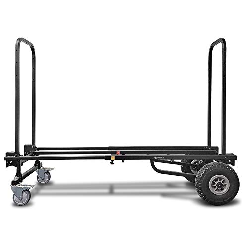 AxcessAbles Dolly Folding Hand Truck, Platform Cart, Moving Dolly 700LB Capacity. Telescoping Frame 2.9ft to 4.6ft. 365 Turning Radius. for Warehouse, Transport, Deliveries. Fully Assembled