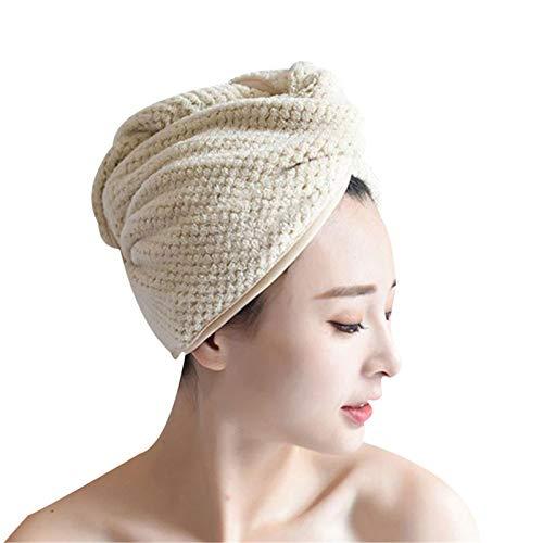 Lanceasy Toalla de microfibra para secar el pelo, toalla de baño suave para mujer, turbante, accesorios de baño