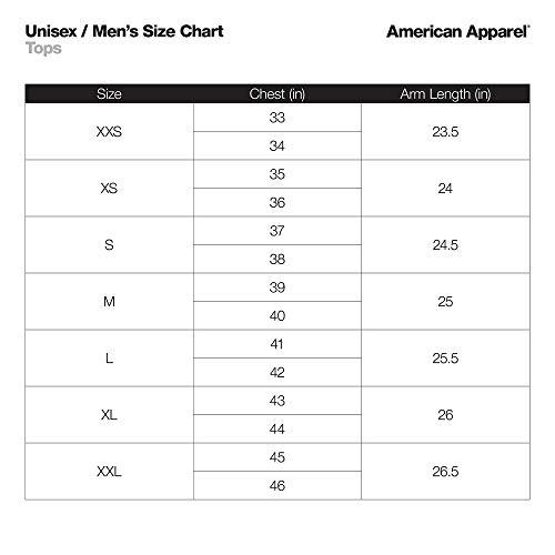 American Apparel Unisex's Fleece Long Sleeve Zip Hoodie Hooded Sweatshirt, Peppered Grey, Medium