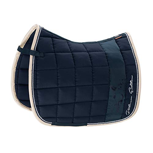 Eskadron Platinum Big Square Cotton Saddle Pad Dressage Navy