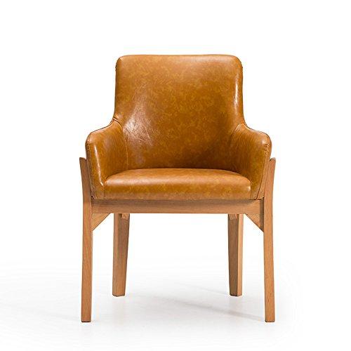 MEIDUO Durable Selles Salle à manger préside le siège mou et les chaises de cuisine de dos avec le style en bois pour diner et le salon pour intérieur extérieur (Couleur : 5(PU))