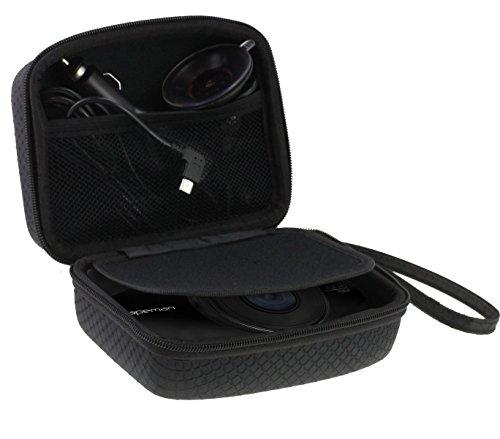 Navitech voiture Dash Cam/appareil photo housse étui noir pour le Vantrue N2 Pro (L'étui est compatible avec le pare-brise + le chargeur de voiture)
