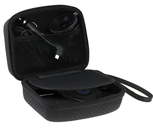 Navitech Car Dash Cam/Camera Carry Case/Bag Compatible with The WASPCAM (Case Also fits with Windscreen Mount + Car Charger)