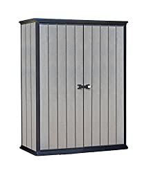 Exterior Dimensions: 54.9 L X 30.3 W X 71.5 H inches Internal Dimensions : 51.37 L x 25.98 W x 69.48 H inches Thick, rib-reinforced wall panels. Weather-resistant materials. Heavy-duty 105° nickel hinge Adjustable brackets included to support 2 shelv...