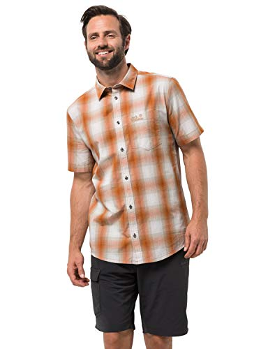 Jack Wolfskin Hot Chili Shirt Desert Orange Checks M