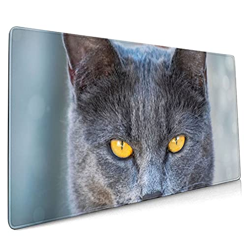 Ferocious cat Emoji Super Large Gaming Mouse pad,, with Non-Slip Base (15.8x35.5 inches), Comfortable, Foldable, Suitable for desktops, laptops, Keyboards, etc