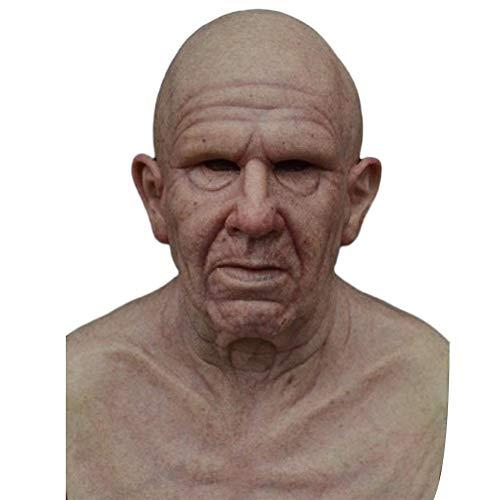 Halloween Maske Horror Gesichtsmaske Latex Realistische Gesichtsmaske Gruseliger Alter Mann 20 Typen Verfügbar Kostüme-Requisiten Für Halloween Kostüm Party Karneval Cosplay