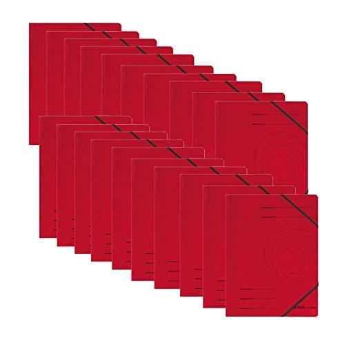 Eckspanner A4, Herlitz, Colorspan-Karton, rot, 20 Stück