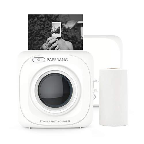 PAPERANG Mini Stampante Termica Blutooth 4.0, Per Immagini/Foto/Etichette/Messaggi/Elenchi Record/Pagine Web Stampa, Con cavo USB Connessione Telefonica Wireless, Compatibile con Android iOS Windows