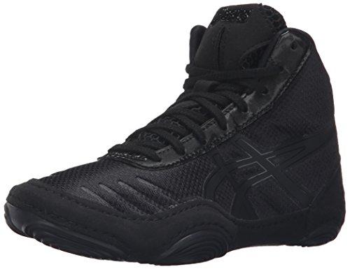 ASICS JB Elite V2.0 GS Wrestling Shoe (Little Kid), Black/Onyx, 1