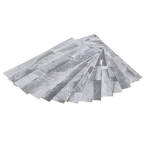 Tomanbery Etiqueta engomada del Piso del Papel Pintado del PVC de la Etiqueta engomada del azulejo de mármol Impermeable para la Cocina de la Sala de Estar del baño(KIT043)