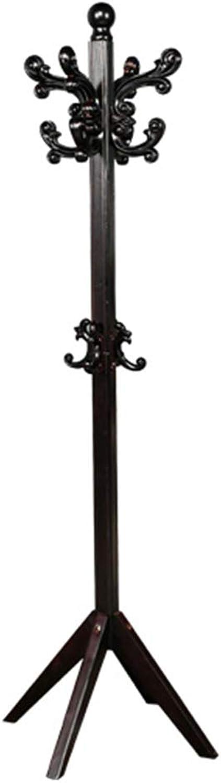 Clothes Hat Tree-Coat Rack Pine Corner Hanger White Black,173cm55cm55cm FENPING (color   Simple-D-Black)