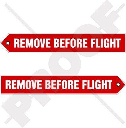Remove before Flight Flugzeuge USAF RAF 15,2cm (150mm) Vinyl Sticker, Aufkleber X2
