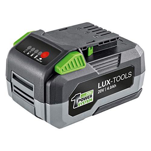 LUX-TOOLS AK-20/4.0 Ersatzakku mit Lithium-Ionen Technologie für alle Maschinen des LUX-TOOLS 1PowerSystems | 20V Li-Ion Akku mit 4,0Ah