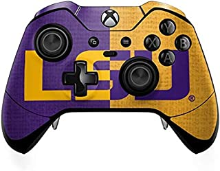 Skinit Decal Gaming Skin for Xbox One Elite Controller - Officially Licensed College LSU Bold Split Design