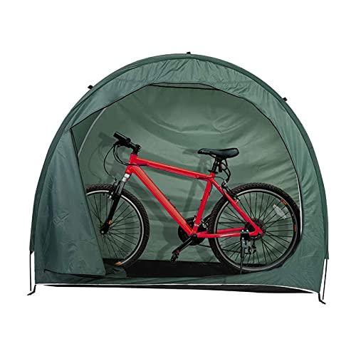 LVLUOKJ Cobertizo para Almacenamiento de Bicicletas de Alta Capacidad, Cubierta a Prueba de Polvo E Impermeable para Bicicletas (Color : Green, Size : 200 * 80 * 165cm)