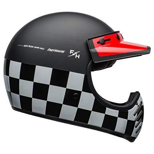 BELL Moto-3 Helmet (FastHouse Checkers Matte/Gloss Black/White/Red - Medium)