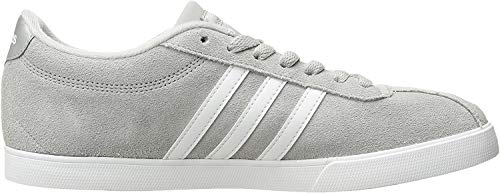 adidas Women's Shoes | Courtset Sneakers, Light Onix/White/Metallic Silver, (7.5 M US)