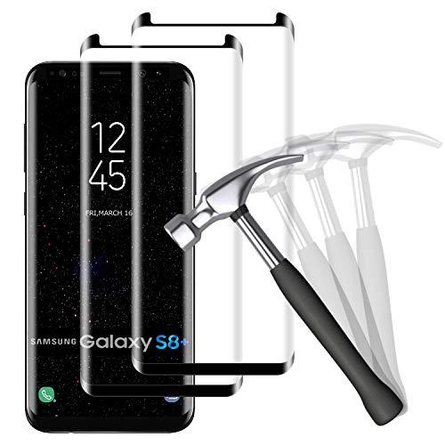 NUOCHENG 2 Unidades Protector de Pantalla para Samsung Galaxy S8 Plus/S8+ Cristal...