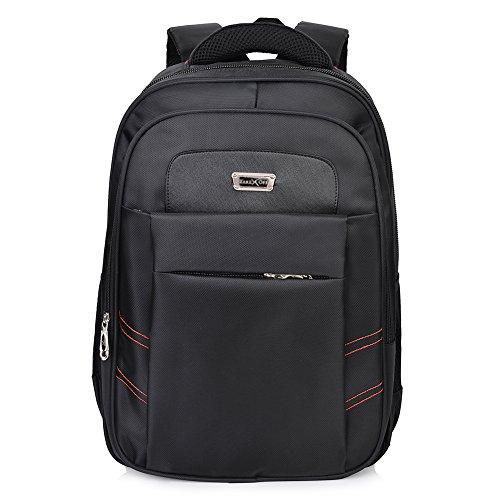 Vbiger Zaino per Computer Portatile e Notebook Macbook Grande Capacità Fino 17 Inch (Nero 2)