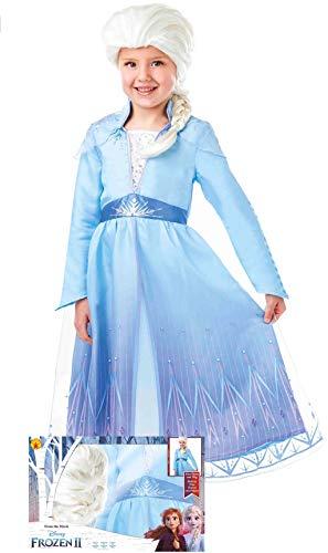 Rubies Disfraz de Elsa™ Frozen 2 con Peluca para niña M3-(5/6 años)