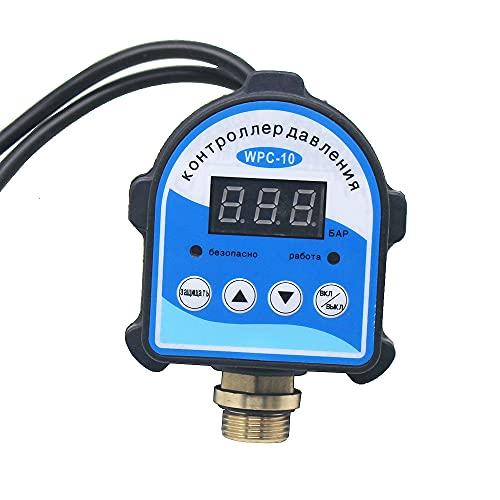 Bomba de transferencia de líquido Interruptor automático del controlador de presión de pantalla digital Eletronic, WPC-10 compatible con el compresor de aire de la bomba de agua de aceite, Accesorios