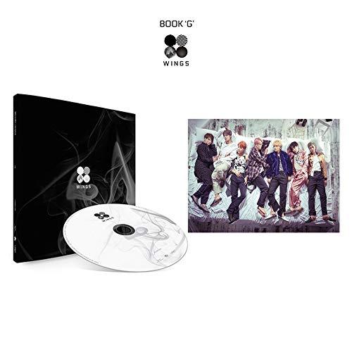 BTS Wings 2nd Album (G Version) Bangtan Boys Vol.2 CD+Poster+Photobook+Polaroid Photocard+Gift (Extra 10 Photocards Set)