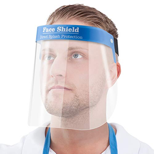 Gesichtsschutz-Schirm Augenschutz Spuck-Schutz Face-Shield Schutzschild Gesichtsschirm (1)