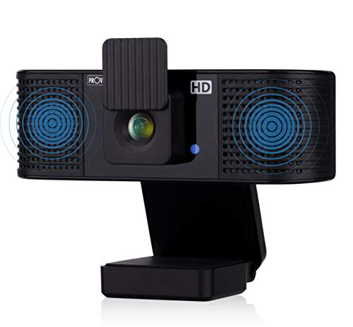 Provision ISR Webcam – Web Camera with Speaker and Microphone – HD Webcam with Privacy Cover – Web Camera for Laptop or Computer – Compatible with Windows, Mac OS and Android