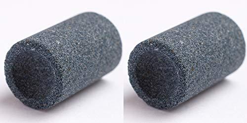 THOR-DARTS Schleifsteine für Metallspitzen 2 Stück, rund Dart Point Spitzer Darts Sharpener Schleifstein Sharpening Stones für Steel Tip Darts, Dart Stahlspitzen Schleifer
