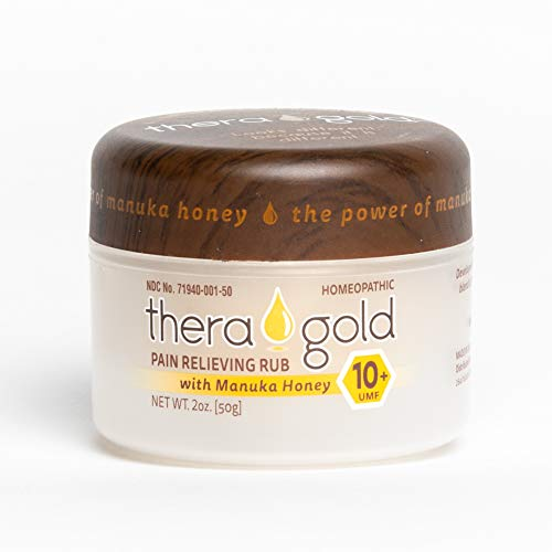 Theragold Pain Relief Cream with Manuka Honey - 2 oz - Rapid Response, Bleach-Free, All-Natural...
