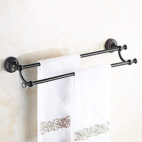 PYROJEWEL Cuarto de baño estante estante estante Bastidores percha plegable de cobre negro colgante de hardware de baño estante estante de cuarto sistema del estante del estante de 60 cm de América es